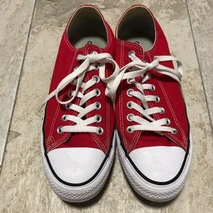 Women's 10.5 Red Low Top Converse